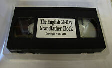The English 30-Day Grandfather Clock Repair Video - AWCI (VHS) (C-376)