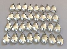 50 pcs x Sew On 7x12 mm Acrylic Rhinestones  Clear Color Teardrop Shape