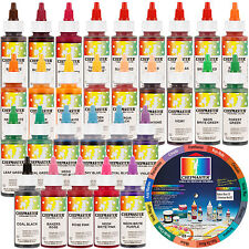 30 Color Deluxe Chefmaster Liqua-Gel Cake Coloring Set, 2.3 oz. Kit by US Cake