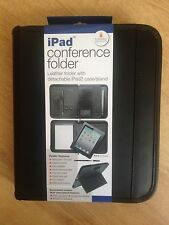 iPad Leather Conference folder,with detachable ipad case /stand with free A5 PAD