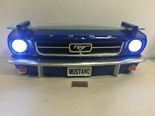 Blue 1964 1965 1966 Ford Mustang GT 289 Car Wall Shelf Lighted LED Headlights