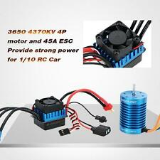 GoolRC 3650 4370KV 4P Brushless Motor & 45A Brushless ESC for 1/10 RC Car M4K0