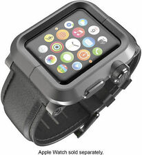 LUNATIK EPIK-010 - Black Aluminum & Black Leather Band for Apple Watch 42mm - VG