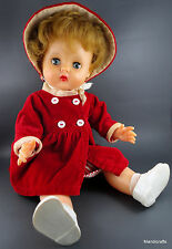 Roddy Pram Doll Vinyl 1950s Sleepy Eyes 16in Jointed Outfit Cinderella Shoes Vtg