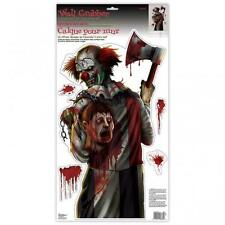 Halloween Creepy Carnevil Clown with Axe Wall Grabber Decoration