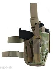 Right Hand Large Pistol Leg Holster (ECD Camo like Muticam)  TiPX, T8.1 [AS5]
