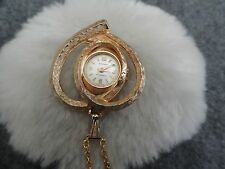 Swiss Made Amchron Wind Up Necklace Pendant Watch