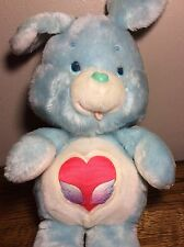 VINTAGE CARE BEARS COUSINS SWIFT HEART RABBIT STUFFED ANIMAL PLUSH KENNER BLUE
