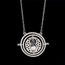 SilveTime Turner Hermione Granger Harry Potter Rotating Spins Hourglass Necklace
