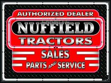 NUFFIELD TRACTORS DEALER REMAKE NEON EFFECT PRINT BANNER SIGN ART MURAL 4' X 3'