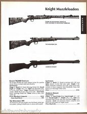 2003 KNIGHT TK2000, Wolverine 209, American MUZZLELOADER AD