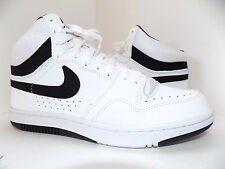 Nike Men's Court Force Hi ND White Black 457701-102 Size 9