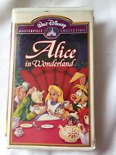 Walt Disney Alice in Wonderland Masterpiece Collection VHS Tape Rare EUC