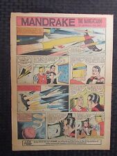 "1961 MANDRAKE THE MAGICIAN 10.5x14.75"" Sunday Color Newspaper Strip VG 4.0"