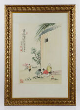 After Feng Zikai, Chinese Watercolor Lot 8369