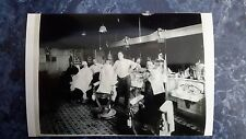 1920's Vintage Barbershop Interior 4 Barbers Large Shop Rare Child Chair Photo