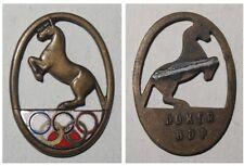 Emaillierte Broschen-Anstecknadel Pferdesport / Reiten verm. Olympia 1936