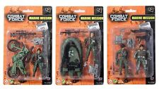 COMBAT ARMY MARINE MISSION ACTION FORCE SOLDIER TOY GUN BOAT FIGURE SET TOYS NEW