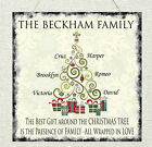 Personalised Family Christmas Tree Children Love Plaque Shabby Present Chic Gift