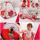 Kids Play Pop-Up Tent Teepee Tube Discovery Pit Ocean Balls Pool Tunnel Playhuts