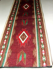"Table Runner Southwestern Woven 13x72"" Great Quality TAOS  design #12034"