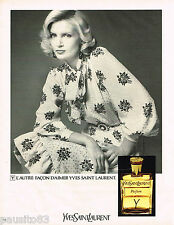 PUBLICITE ADVERTISING 055  1973  YVES SAINT LAURENT   parfum de femme Y