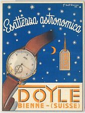 53193 -  SWITZERLAND  - VINTAGE ADVERTISING POSTCARD: Bienne DOYLE WATCHES