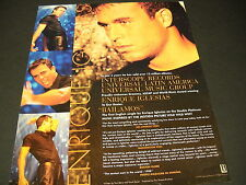 ENRIQUE IGLESIAS 1999 Promo Poster Ad ...in just 3 years - 13 million albums