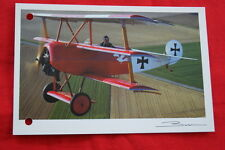 AVIATION- FOKKER DR 1 TRIPLAN GUY BROCHOT  N°91 CARTE POSTALE