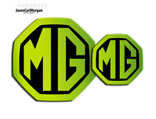 MG ZS MK2 Badge Inserts Front Grill & Rear 59mm 95mm Night Glow Green Badges