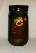 WELLER LOUWELSA Pansy Double Handled Pottery Vase