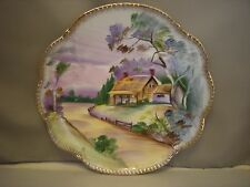 Ucagco Japan Ceramic Collector's Plate Thatch roof house cottage