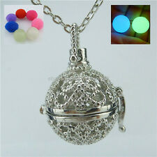 Glow Bead Ball Locket Necklace For Fragrance Essential Oil Aromatherapy Diffuser