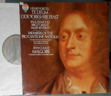 HENRY PURCELL TE DEUM, ODE: YORKSHIRE FEAST JEAN-CLAUDE MALGOIRE LP