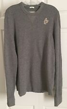 Abercrombie & Fitch Men's Crew Muscle Top, Long Sleeve, Waffle Knit, Grey, Sz XL