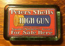 Peters High Gun Shell Advertising Glass Paper Weight