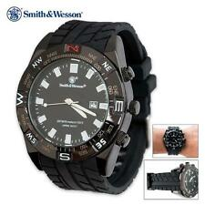 Smith & Wesson Black Tactical Military 100 ft. Water-Proof Field Watch