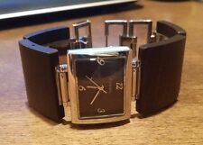 Fossil Women's Watch Silver with Brown Wood Inserts excellent condition