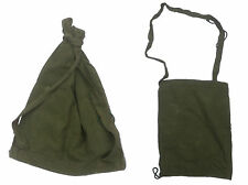 VINTAGE BELGIAN ARMY CANVAS SEA SACK kit bag rucksack transport bag