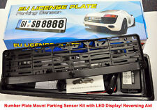 Number Plate Frame Holder Mount Reverse Parking Sensor Sensors LED Display audio