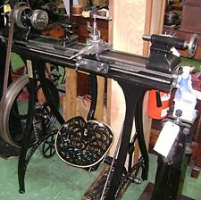 Antique Barnes #4-1/2 Foot Operated Metal Cutting Lathe