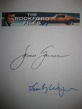 The Rockford Files Signed TV Pilot Script James Garner Lindsay Wagner Autogr rpt