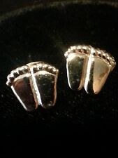 ProLife Support PRECIOUS FEET POST EARRINGS Silver Tone