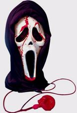 HALLOWEEN MASK  HORROR SCREAM BLEEDING BLOOD HOODED UNISEX FANCY DRESS ACCESSORY