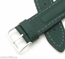 18mm VOSTOK MILITARY GREEN WATCH BAND STRAP True Genuine Leather Soviet Russian