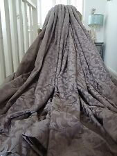 DECADENT CURTAINS cotton silk SHABBY cottage chic FRENCH acanthus DAMASK B/OUT