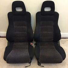 1991 HONDA CRX SI SEATS // USDM OEM ORIGINAL RED STRIPED