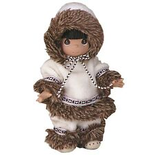 # PRECIOUS MOMENTS Vinyl Doll ESKIMO SULU Native Alaskan Costume LINDA RICK 9""