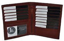 GENUINE LEATHER HIPSTER WALLET BROWN NEW 13 CREDIT CARD SLOTS GREAT GIFT IDEA