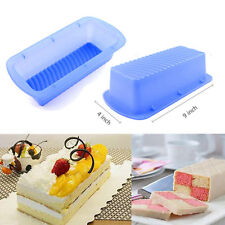 Silicone Square Non-stick Mold Cake Loaf Toast Bread Bakeware Pan Baking Mould